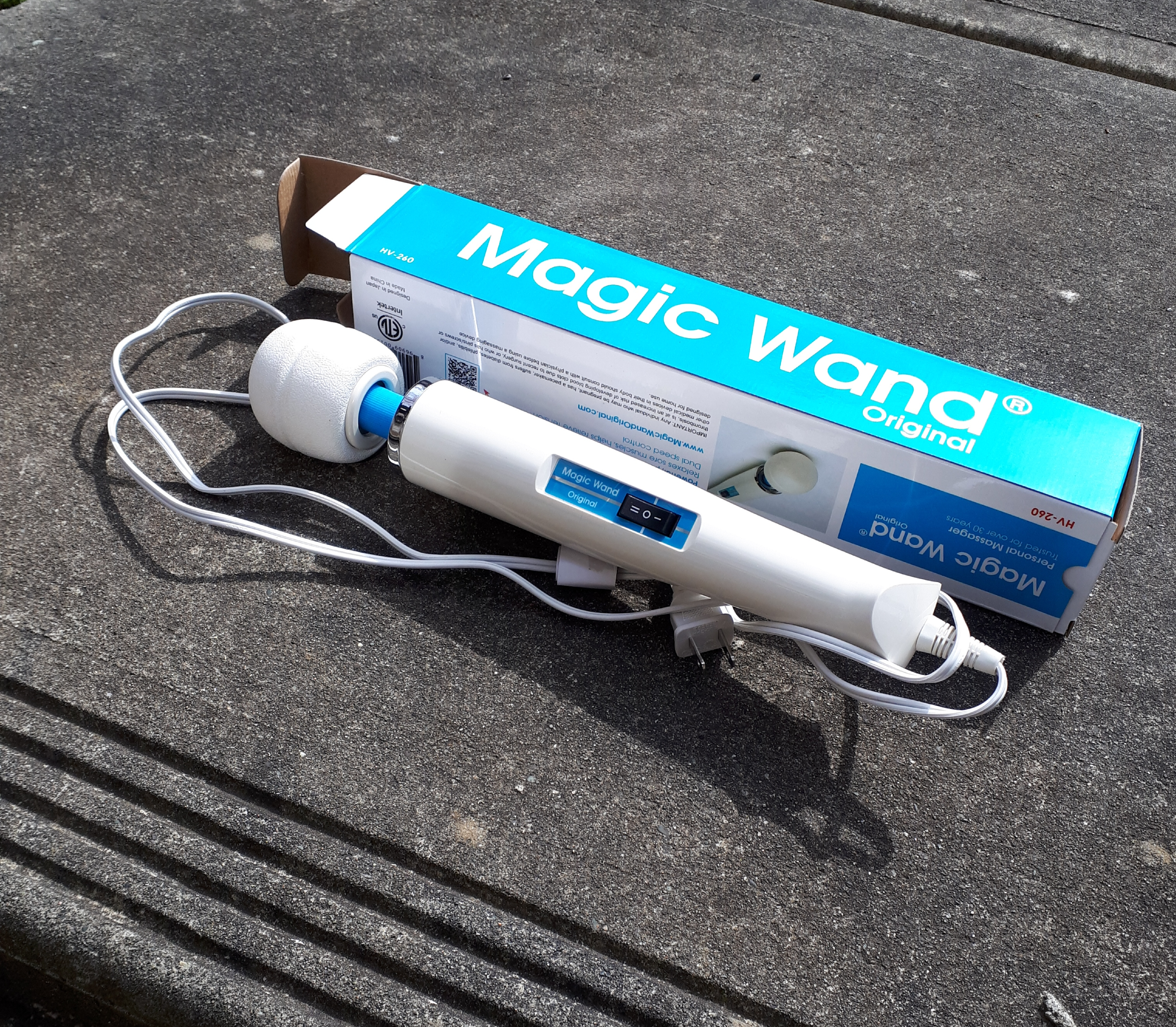 Yes I photographed my new magic wand on a friend's patio